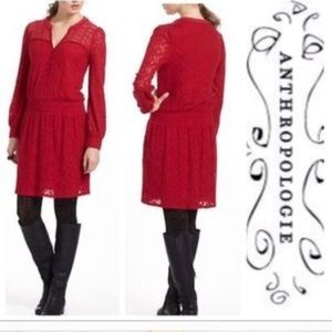 Leifnotes Field Day Peasant red dress